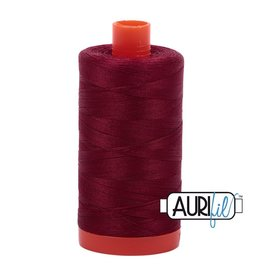 Aurifil 50 wt. Piecing Thread-2460 Dark Carmine Red