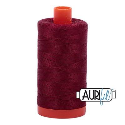 Aurifil 50 wt. Piecing Thread-2460 Dark Carmine Red
