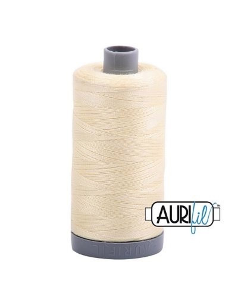 Aurifil 28 wt. Quilting Thread-2110 Light Lemon