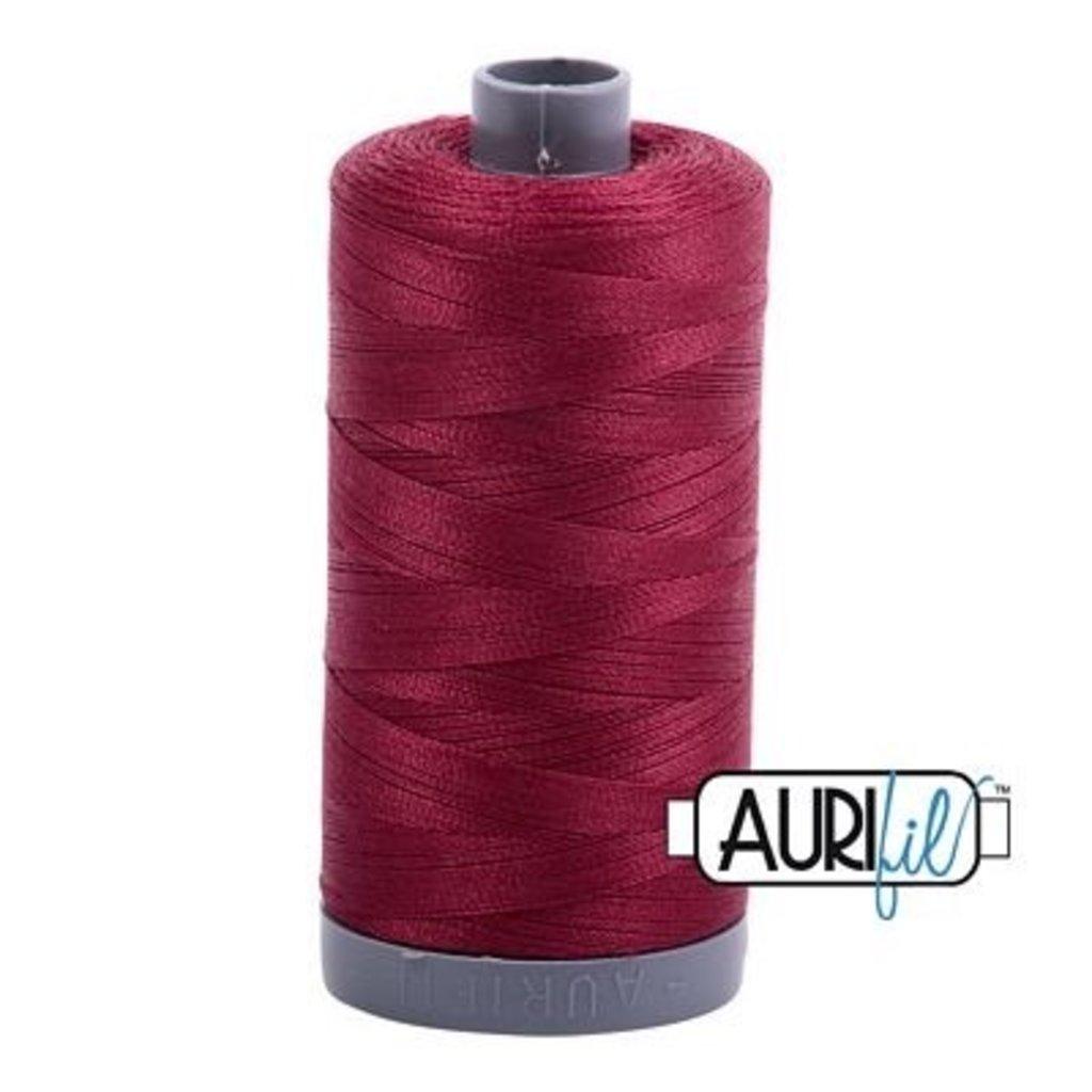 Aurifil 28 wt. Quilting Thread-2460 Dark Carmine Red