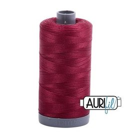 Aurifil 28 wt. Quilting Thread-2460 Dark Carmine Red