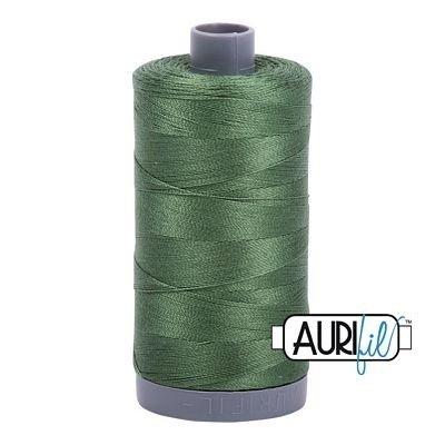 Aurifil 28 wt. Quilting Thread-2890 Very Dark Grass Green
