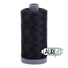 Aurifil 28 wt. Quilting Thread-4241 Very Dark Gray