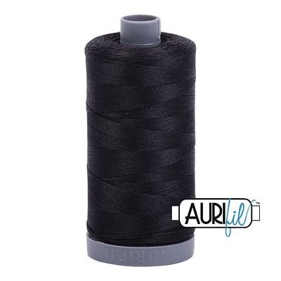 Aurifil 28 wt. Quilting Thread-4241 Very Dark Gray