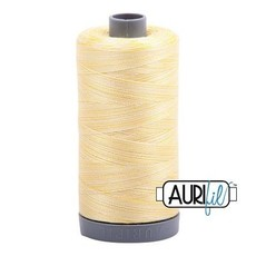 Aurifil 28 wt. Quilting Thread Variegated-3910 Lemon Ice