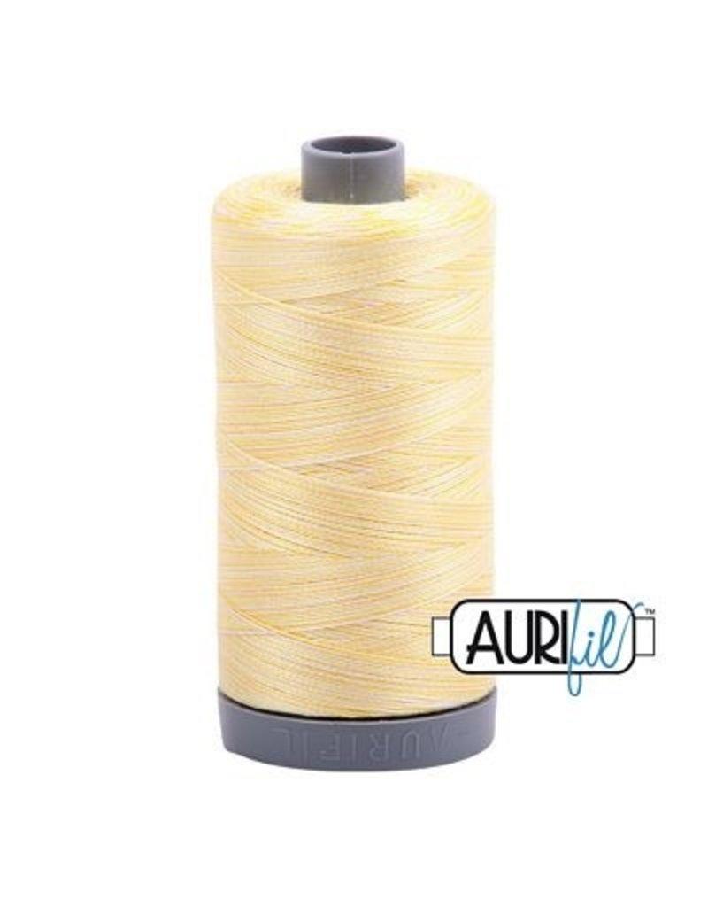 Aurifil 28 wt. Quilting Thread Variegated-3910 Lemon Ice
