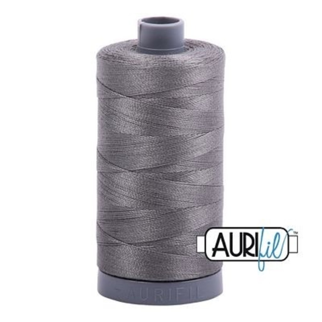Aurifil 28 wt. Quilting Thread-5004 Gray Smoke
