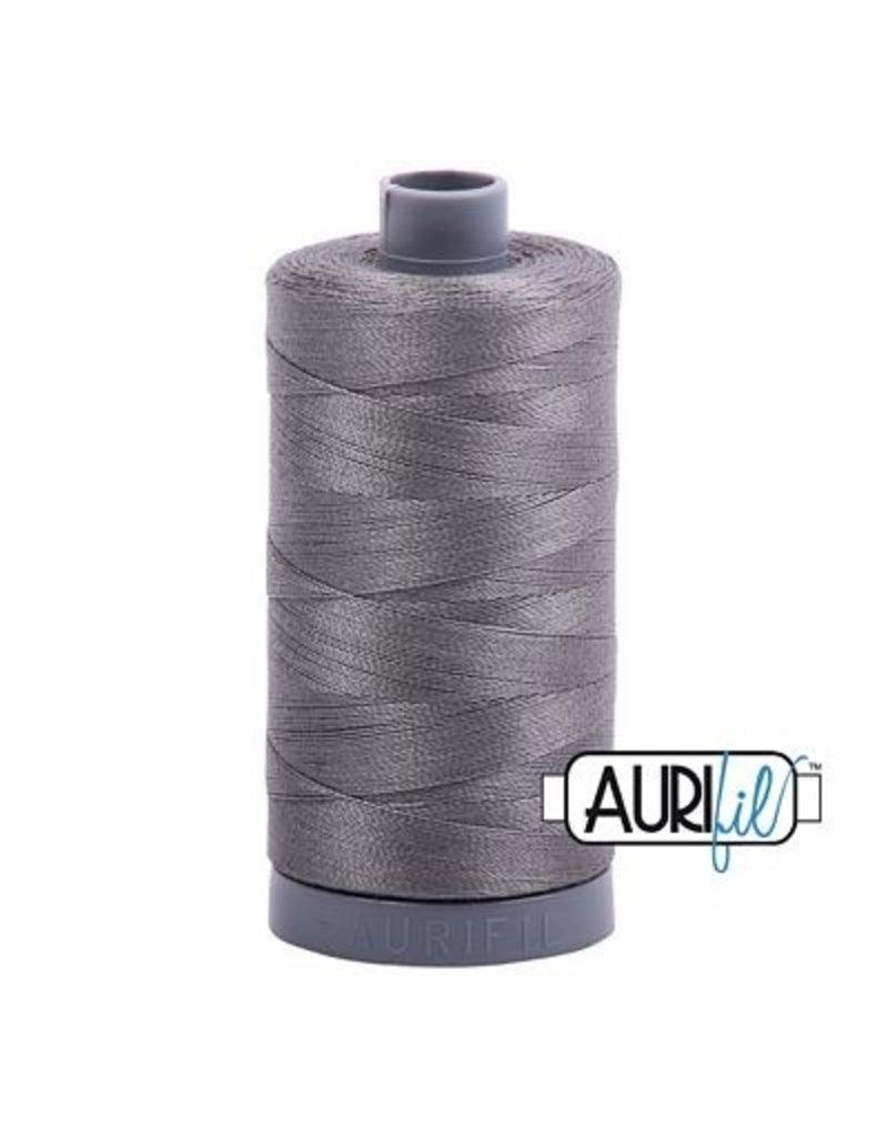 Aurifil 28 wt. Quilting Thread-5004 Gray Smoke