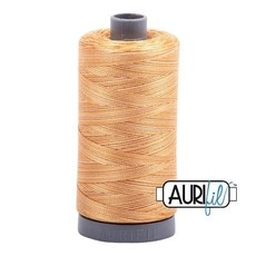 Aurifil 28 wt. Quilting Thread Variegated-4150 Creme Brulee