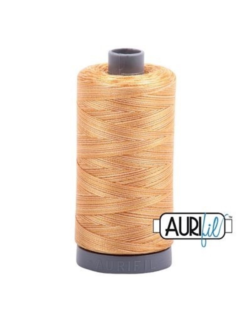 Aurifil 28 wt. Quilting Thread Variegated-4150 Creme Brulee