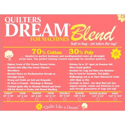 Dream Blend Batting-Crib