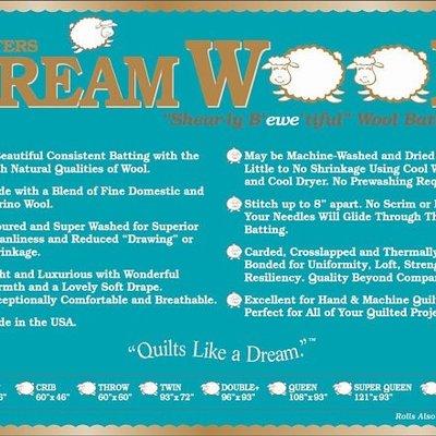 Dream Wool Batting-Twin