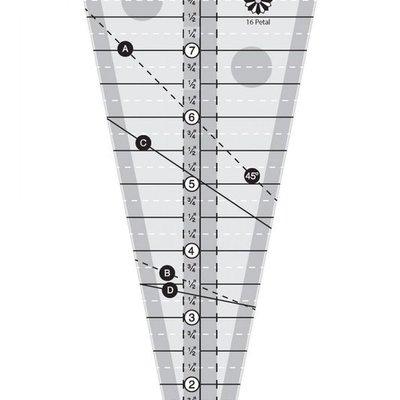 Creative Grids 22-1/2 Degree Triangle Ruler