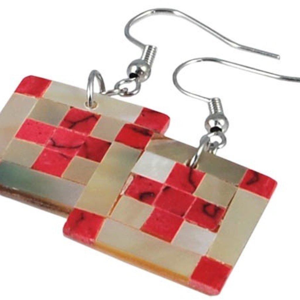 Red Cross Earrings