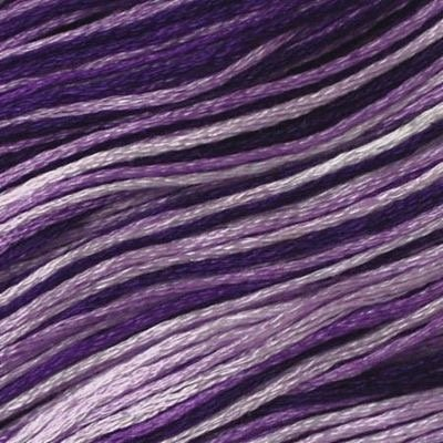 Presencia Embroidery Floss Variegated-9500 Glorious Grape