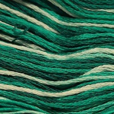 Presencia Embroidery Floss Variegated-9800 Dark Seagreen