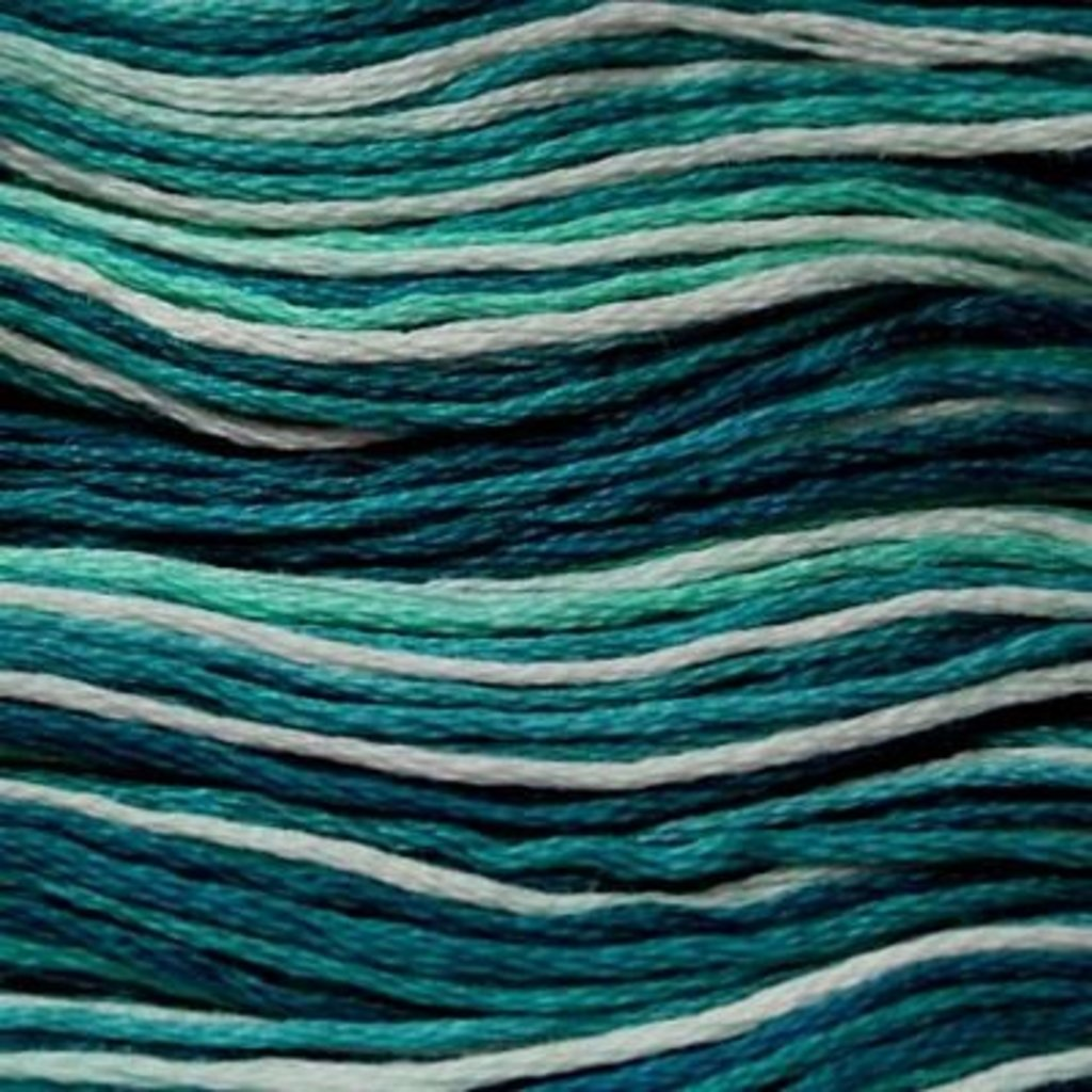 Presencia Embroidery Floss Variegated-9770 Peacock