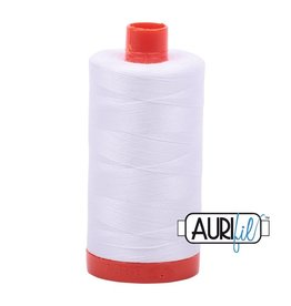 Aurifil 50 wt. Piecing Thread-2024 White