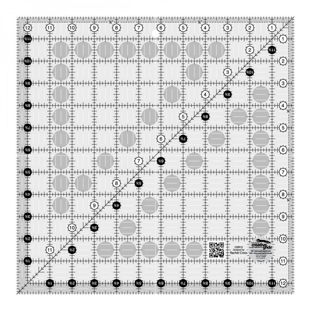 "Creative Grids Ruler 12.5"" x 12.5"""