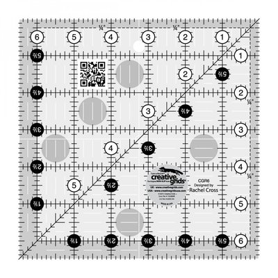 "Creative Grids Ruler 6.5"" x 6.5"""