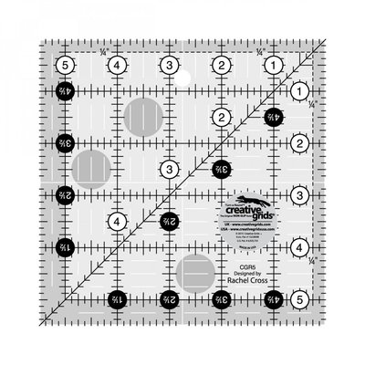 "Creative Grids Ruler 5.5"" x 5.5"""
