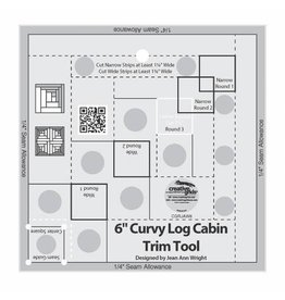 Creative Grids Curvy Log Cabin Trim Tool 6in Finished Blocks