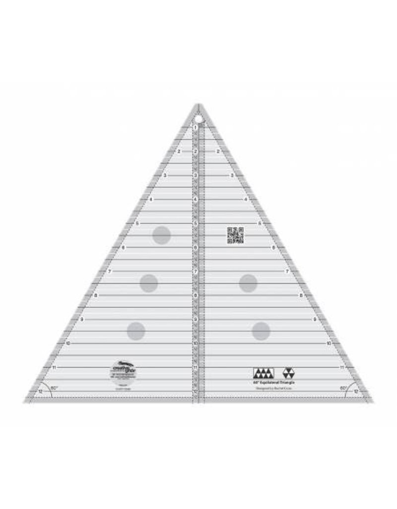 """Creative Grids 60 Degree Triangle 12 1/2"""" Quilt Ruler"""