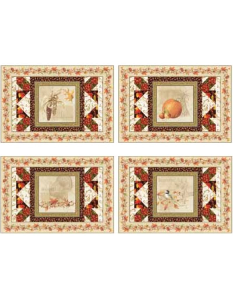 Joyful Harvest Placemat Kit-Includes pattern and fabric for top and binding.