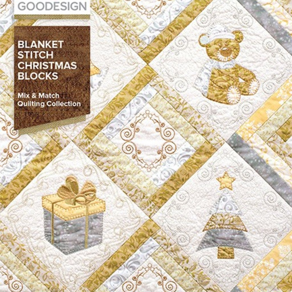 Blanket Stitch Christmas Block Design Pack