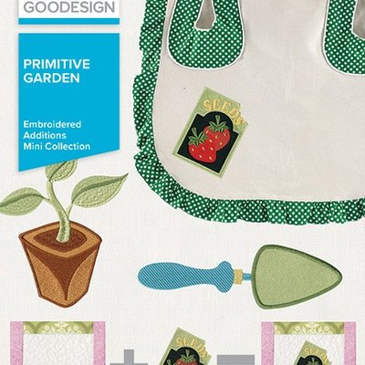 Embroidered Additions Primitive Garden Design Pack