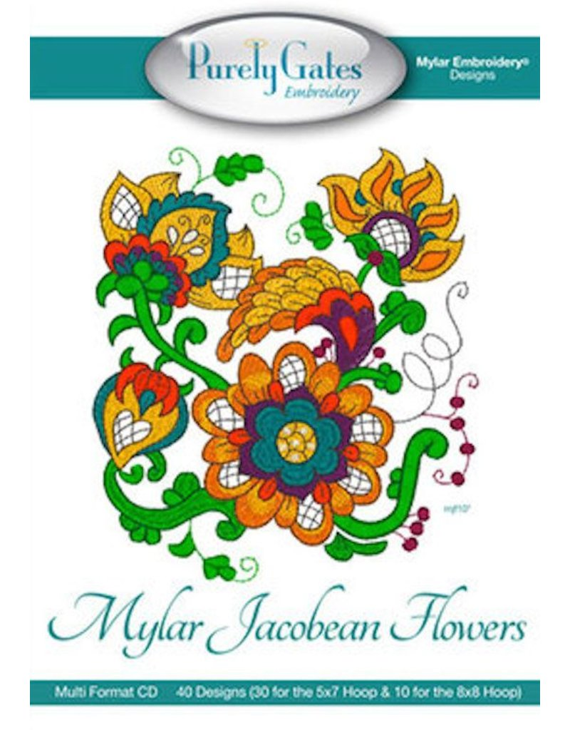 Mylar Jacobean Flowers Design Pack