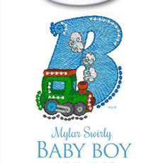 Mylar Swirly Baby Boy Alphabet Design Pack