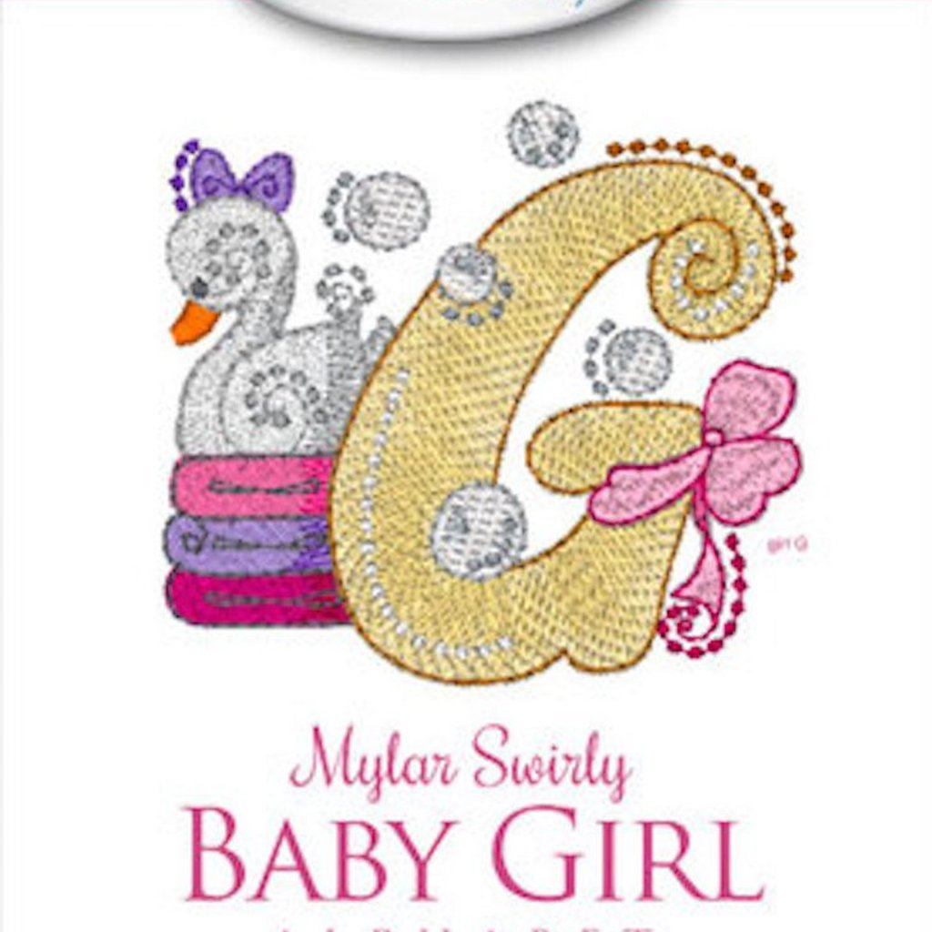 Mylar Swirly Baby Girl Alphabet Design Pack