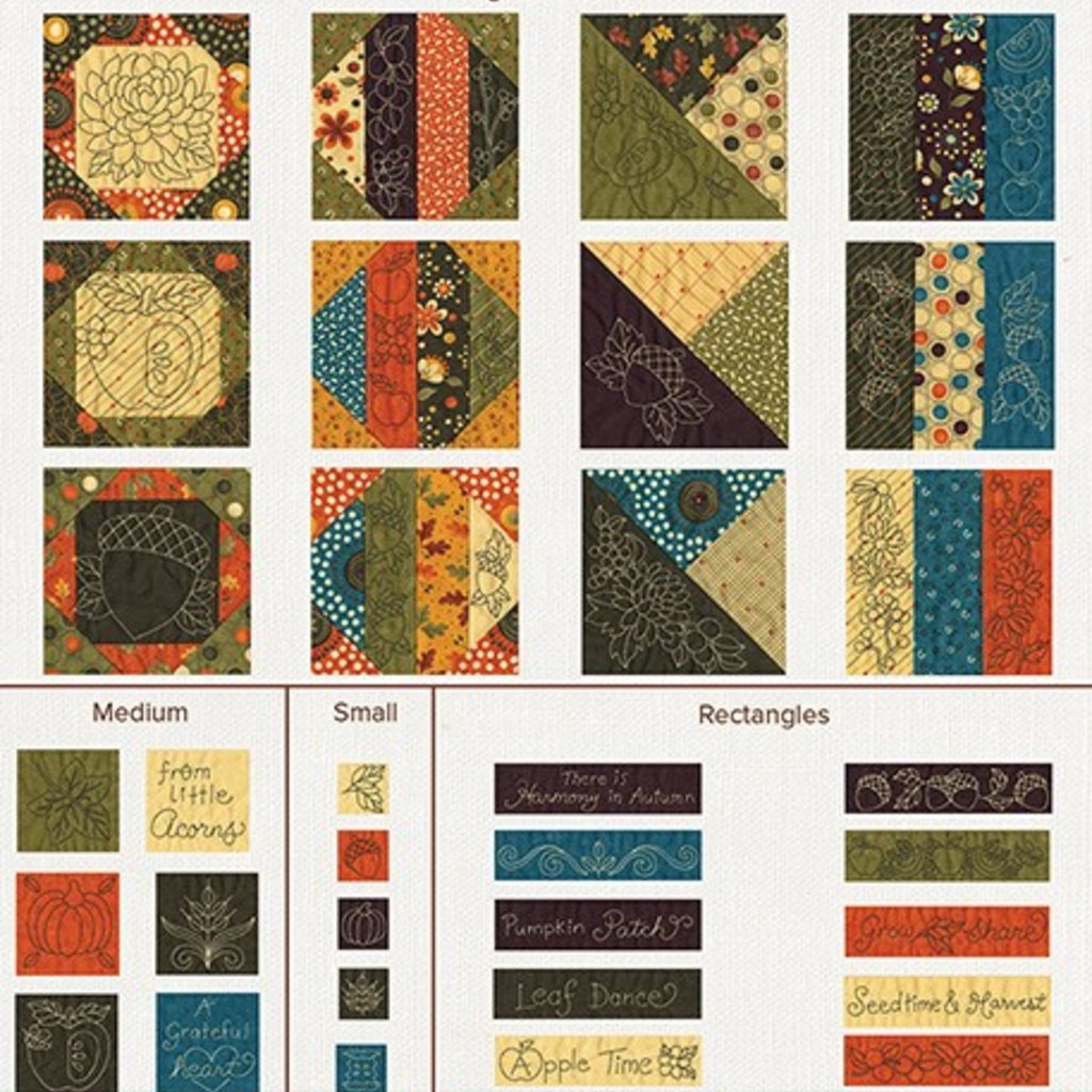 Quilt for all Season- Autumn Design pack
