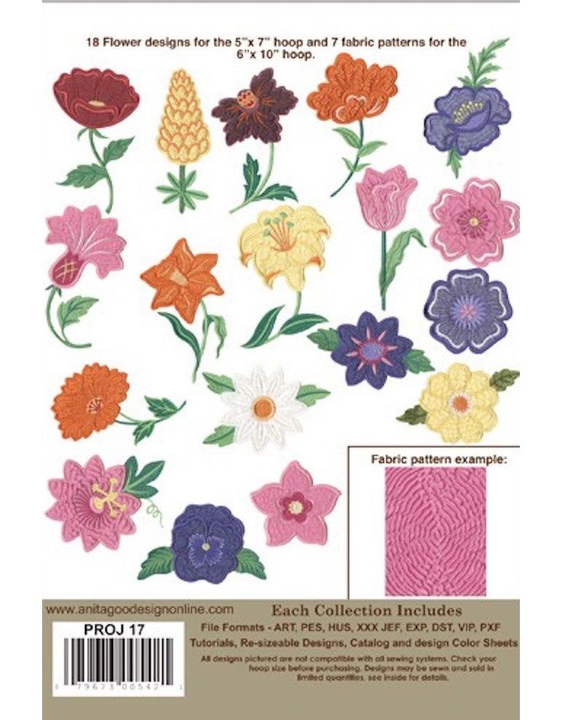 Shrinky Flowers Design Pack