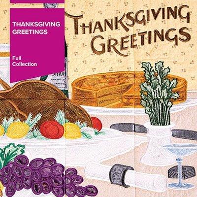Thanksgiving Greetings Tile Scene