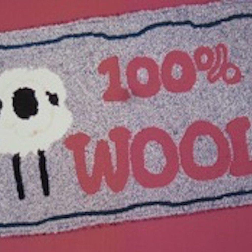 100% Wool Hooked rug
