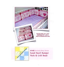 Sweet Heart Bumper Pads & Crib Sheet