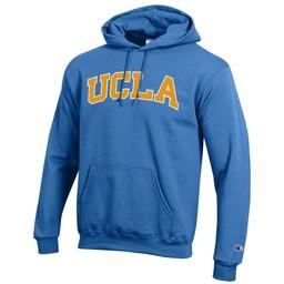 Champion UCLA  Block Arch Powerblend Hood - Blue Breeze