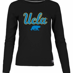 Russel Brand LLC Women's Essential Long Sleeve UCLA Script Over Cali Bear