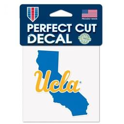 Wincraft Ucla Script Cali State Shape Perfect Cut Decal 4x4