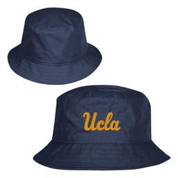 Champion Ucla Script Rip Stop Bucket Hat Marine Navy