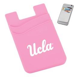 Jardine Associates UCLA Dual Pocket Slim Silicone Phone Wallet Pink
