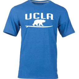 Russell Athletic UCLA Surf Bear T-Shirt Royal Blue Heather