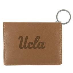Jardine Associates UCLA script Leather ID Holder Tan
