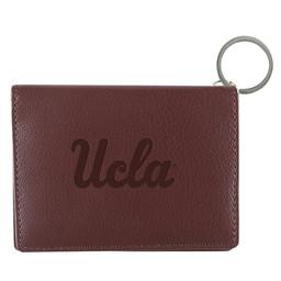 Jardine Associates UCLA script Leather ID Holder Brown