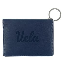 Jardine Associates UCLA script Leather ID Holder Navy