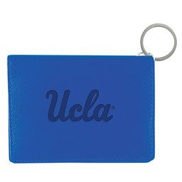 Jardine Associates UCLA script Leather ID Holder Royal