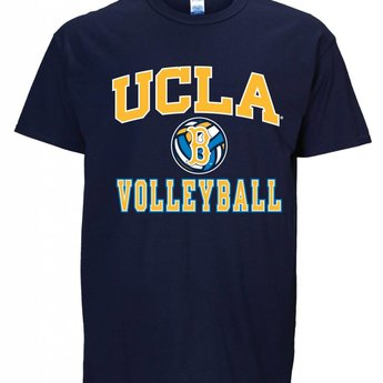huge selection of 4888d 9dd1d MENS BASIC TEE SHIRT NAVY BLUE UCLA VOLLEYBALL