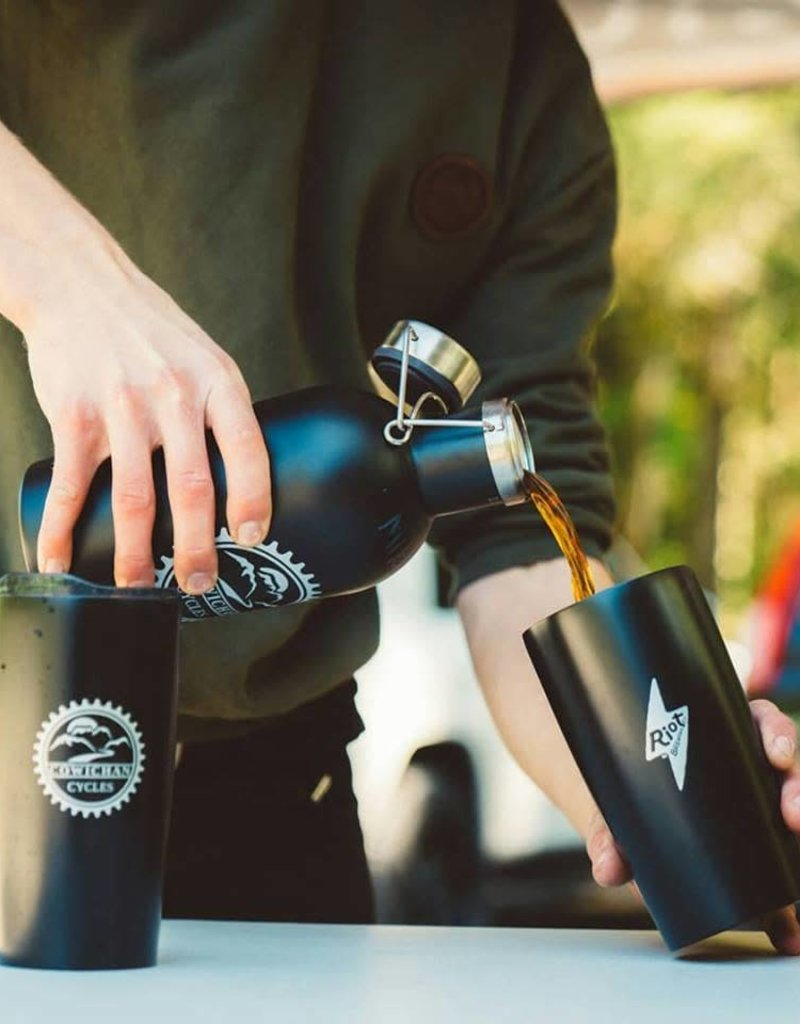 Cowichan Cycles Cowichan Cycles Growler, Double Walled, Stainless Steel - 1L